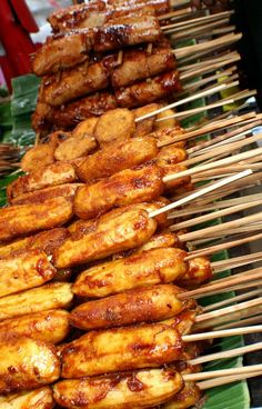 Turon, Kamote and Banana Que (Philippine Street Food Snack)