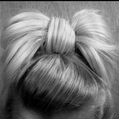 messy hair bow