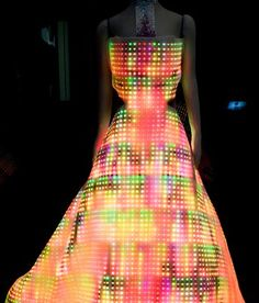 Cute Circuit has introduced the LED Galaxy Dress--a blindingly bright piece of clothing that's decked out with 24,000 full-color LEDs. The prototype dress is currently on permanent display at the Museum of Science and Industry in Chicago.