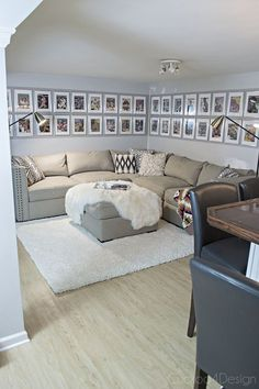 Basement Man-Cave Update Man-cave makeover with Sports Illustrated collection and new American Signature Furniture sectional – Man Cave Garage, Man Cave Basement, Basement House, Walkout Basement, Basement Apartment, Apartment Ideas, Man Cave Diy, Man Cave Home Bar, Utah