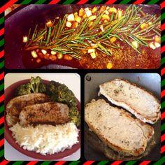 Pork rice and broccoli