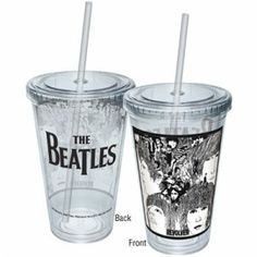 REVOLVER CUP WITH STRAW [7230] - $14.00 : Beatles Gifts, The Fest for Beatles Fans