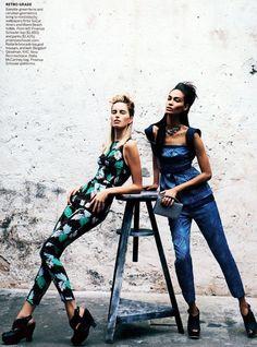 """Vision Quest"" : Karolina, Kasia, Fei Fei, Joan + More : US Vogue March 2012 : Peter Lindberg"