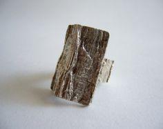 Knut V. Andersen Rectangular Tree Bark Ring