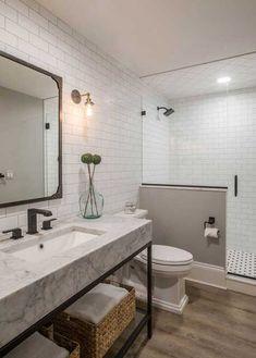 "Basement Bathroom Remodel Ideas - Basement Bathroom Remodel Ideas Gillian Lazanik, Houzz Contributor[[caption id="""" align=""aligncenter"" Bathroom Design Small, Bathroom Interior Design, Modern Bathroom, Basement Renovations, Bathroom Renovations, Remodel Bathroom, Home Modern, Dream Bathrooms, Bathroom Inspiration"