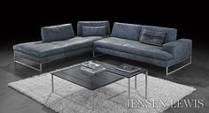 The Sunset Sectional Sofa is a moderately deep seated and plush lesson in Italian Modern. It features adjustable backs that allow for an even deeper seat by converting the couch to a chaise. Also can function as a modern daybed. Available in custom colors and configurations on a special order basis. Made in Italy.
