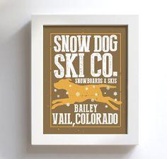 Yellow Lab Retriever Snowboard Skiing Art Personalized by DexMex Black Dog Names, 50 Wedding Anniversary Gifts, Dog Grooming Salons, Condo Decorating, Snow Dogs, Nature Decor, Personalized Wedding Gifts, Dog Design, Dog Art