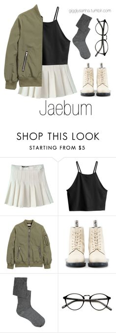 """""""Meeting in the City // Jaebum"""" by suga-infires ❤ liked on Polyvore featuring H&M, Dr. Martens and ASOS"""