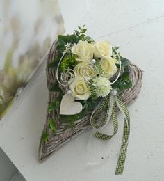 Your marketplace to buy and sell handmade items. - Your marketplace to buy and sell handmade items. Wood Centerpieces, Table Decorations, Selling Handmade Items, Pheasant Feathers, Flower Quotes, Green Cream, Silk Flowers, Funeral, Memorial Day