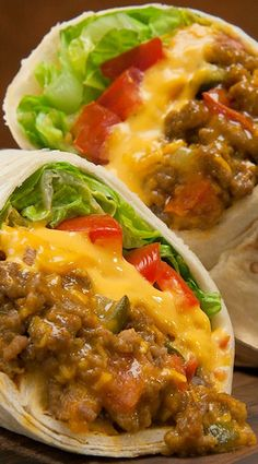 Cheeseburger Burritos ~ This easy recipe combines two all-time favorites, burgers and burritos. Ready in just 20 minutes it's perfect for a quick weeknight meal or your next tailgate.