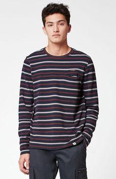 Cylde Striped Crew Neck Sweatshirt