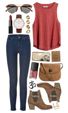 Untitled #450 by clary94 on Polyvore featuring Madewell, 7 For All Mankind, rag & bone, Pieces, Daniel Wellington, Dogeared, Warehouse, Loren Stewart, Skinnydip and Topman