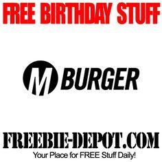 BIRTHDAY FREEBIE – M Burger - FREE BDay Reward