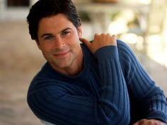 Rob Lowe in blue