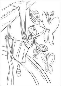 Ausmalbilder Rapuzel Ausmalen Rapunzel Coloring Coloringpagesforkids Kinder Erwachsenen Malvorlagen Paintin Malvorlage Prinzessin Ausmalbilder Ausmalen