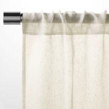 Sheer Linen Window Panel, 244 cm., Ivory