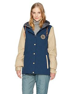 481ab5626f79 DC Womens Dcla Full Zip Snow Jacket Insignia Blue M   More info could be  found