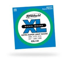 D'Addario EXL130 Nickel Extra Super Light Electric Guitar Strings by D'Addario. $1.03. The XL series of electric guitar strings are round wound and feature nickel-plated steel wrap wire that ensures a bright, true sound.. Save 89%!