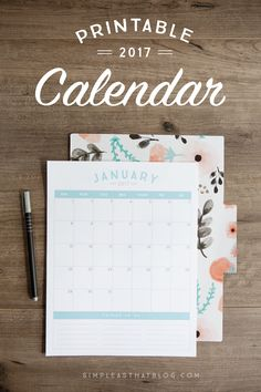 This simple, stream-lined 2017 calendar is the perfect planning tool to help you…