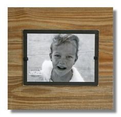 """Wood Frame- Wood with Brown backboard.  11"""" x 11"""".  5 x 7 photo.  Hangs and Stands. FS-RC1-BWN57 by beachframeslld on Etsy"""