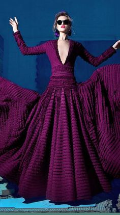 NICOLAS-JEBRAN purple dress