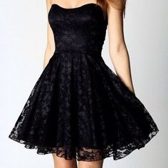 Short black prom dress graduation dresses ❤ liked on Polyvore