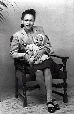 Jimi Hendrix and his mother
