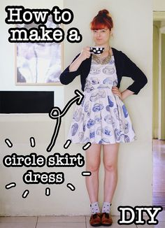 DIY Circle Skirt Dress (Video Tutorial) - The Pineneedle Collective