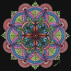 Flowering mandala SandraKZ.deviantart.com on @DeviantArt
