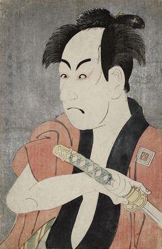 東洲斎写楽の「市川男女…:「清長、歌麿、写楽」3大浮世絵師が一堂に 写真特集:時事ドットコム