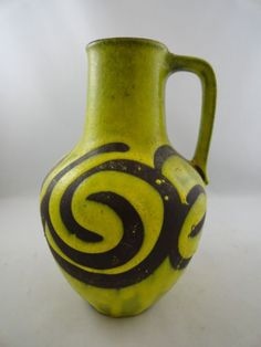 MCM-Carstens-Fat-Lava-Op-Art-Pottery-Vase-West-Germany
