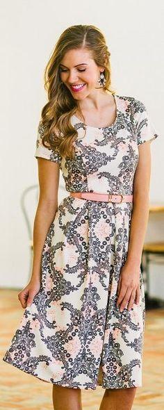 Eve Pink & Grey Dress