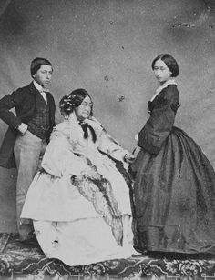 Her Royal Highness the Duchess of Kent, Princess Alice and Prince Alfred, 1860. [Album: Photographs. Royal Portraits, vol.48] | Royal Collection Trust
