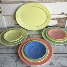 Vintage Hazel Atlas Moderntone Collection - Platter Plates Saucers - 11 Pieces by TheClassicButterfly on Etsy