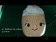 Tejiendo cabeza, nariz y ojos parte 2/2 payasa amigurumi - YouTube