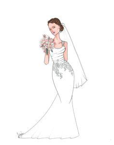 Custom Bridal Illustration by SullyAnnIllustration on Etsy
