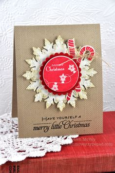Merry Little Christmas Card by Dawn McVey for Papertrey Ink (September 2012)