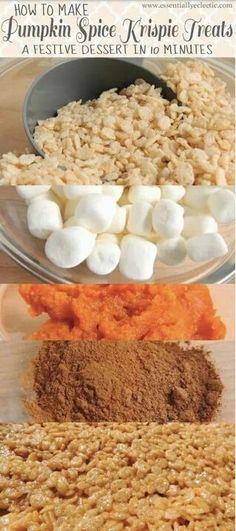 Pumpkin rice crispy treats @Valerie Hogervorst might like these.