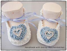 Babyschuhe -  Taufschuhe von Maschenlädchen auf DaWanda.com