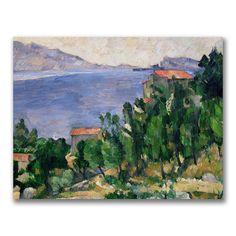 "Trademark Fine Art 35x47 inches Paul Cezanne ""View Of Mount Marseilleveyre"""