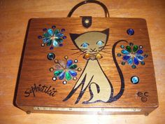 VINTAGE  SOPHISTIKIT  BAG BOX DESIGNER  ENID COLLINS TEXAS #ENIDCOLLINS #BoxBag #KittenPrint