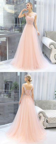 prom dress — promdress-lovedress: pink lace long prom dress ...