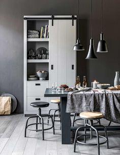 Shop deze stijl: eetkamer in grijstinten | Shop the look: dining room with grey tones