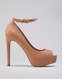 Bershka Slovenia - Bershka peep toes with studded ankle straps