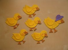 Five Little Ducks Felt Set by CocolocosFeltDesign on Etsy, $7.00