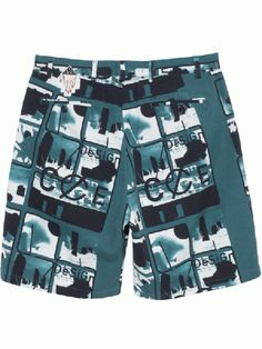 TO-JP Mens 3D Printing Beach Shorts Science On A Plate Swim Trunks