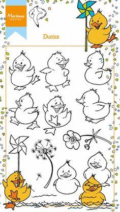 Ht1615 Clear stamp Hetty's ducks