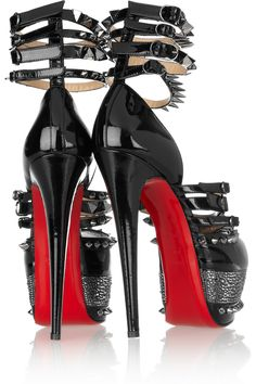 Christian Louboutin  20th Anniversary Isolde 160MM patent-leather sandals.