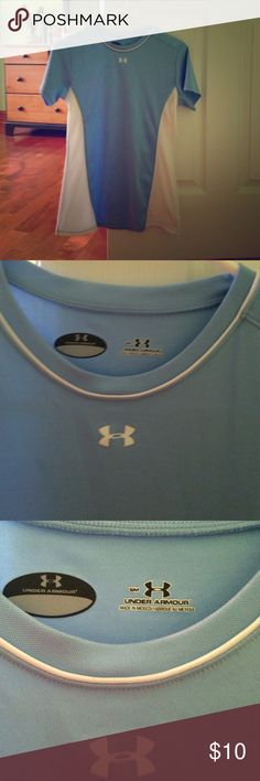 Under Armour t shirt Light blue and white Under Armour T-shirt size small Under Armour Tops Tees - Short Sleeve