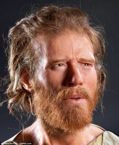The face of prehistoric Britain: Forensic scientist uses Neolithic man's 5,500 year old skull found buried in a long barrow 1.5 miles from Stonehenge, to create life-like image.